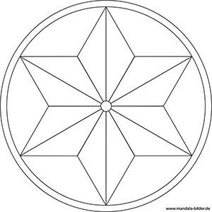 Mandala Malvorlageben Mit Symbolen Fur Kinder Und Erwachsene