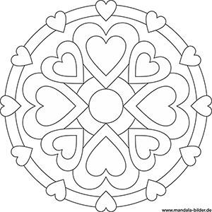 Mandala Malvorlageben Mit Symbolen Für Kinder Und Erwachsene