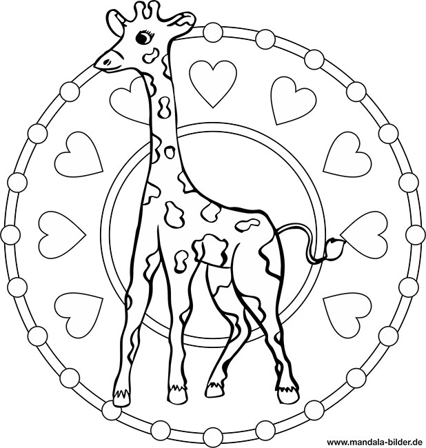 mandala giraffe  kinder malvorlage zum ausmalen
