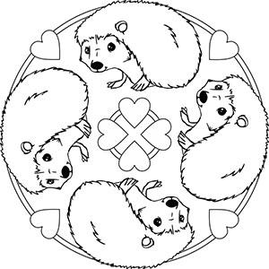 tier mandalas - ausmalbilder mit tieren zum ausmalen für