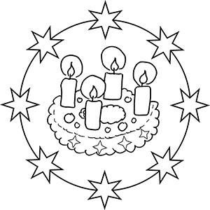 Mandalas fr Kinder zu Weihnachten  Weihnachtsmandala zum Ausmalen