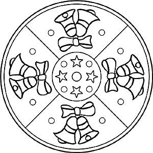 Mandalas f r kinder zu weihnachten weihnachtsmandala zum ausmalen - Adventskranz fur kindergarten ...