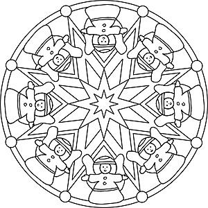 Mandalas Für Kinder Zu Weihnachten Weihnachtsmandala Zum Ausmalen