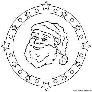 mandalas für kinder zu weihnachten - weihnachtsmandala zum ausmalen