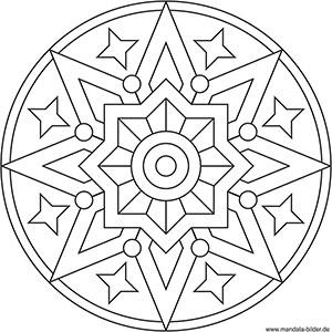 Mandalas Für Kinder Zu Weihnachten Weihnachtsmandala Zum