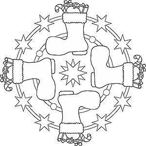 Mandalas für Kinder zu Weihnachten - Weihnachtsmandala zum ...