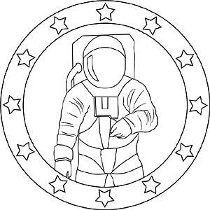 Kinder Mandalas Weltraum Planeten Raumschiffe Und Astronauten