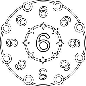 zahlenmandalas - mandalas mit den zahlen 1 bis 9
