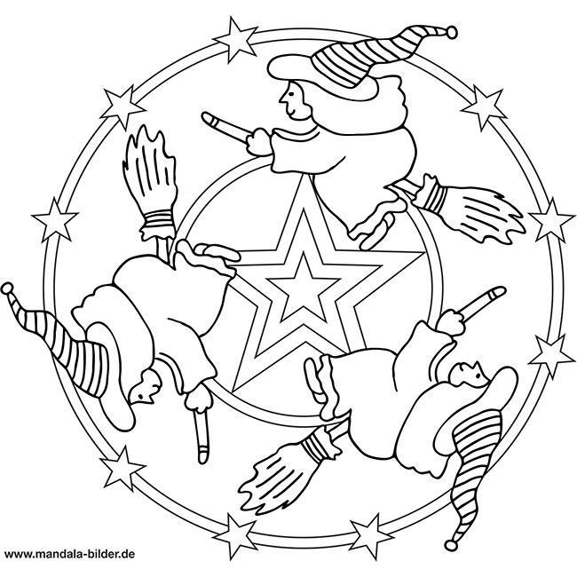 Mandala Hexe Ausmalbilder Zum Ausdrucken